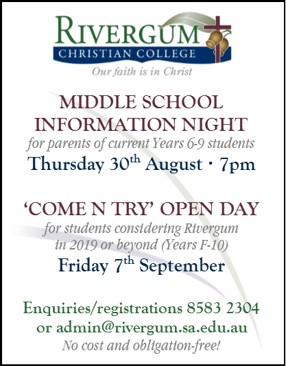 RCC MS Info Night & Open Day ad